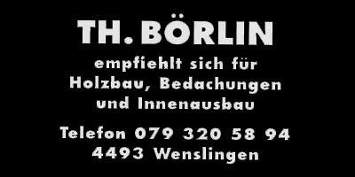 Böhrlin Holzbau Wenslingen Logo